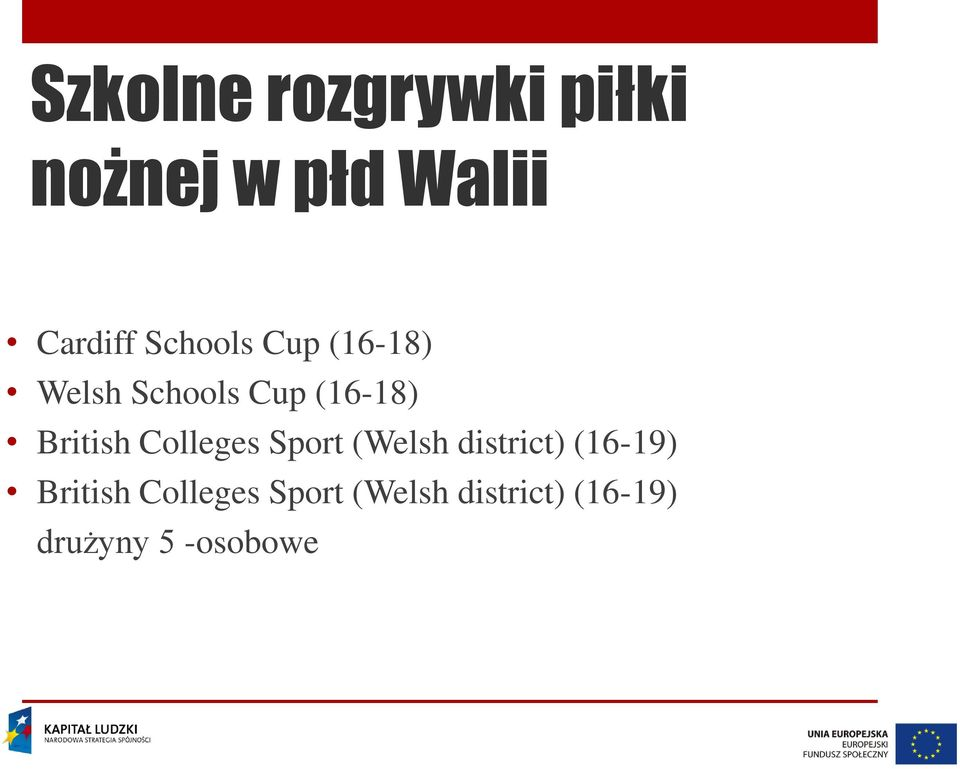 British Colleges Sport (Welsh district) (16-19)