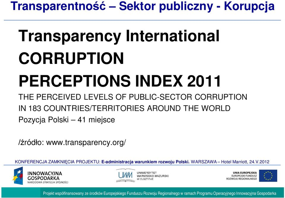 LEVELS OF PUBLIC-SECTOR CORRUPTION IN 183