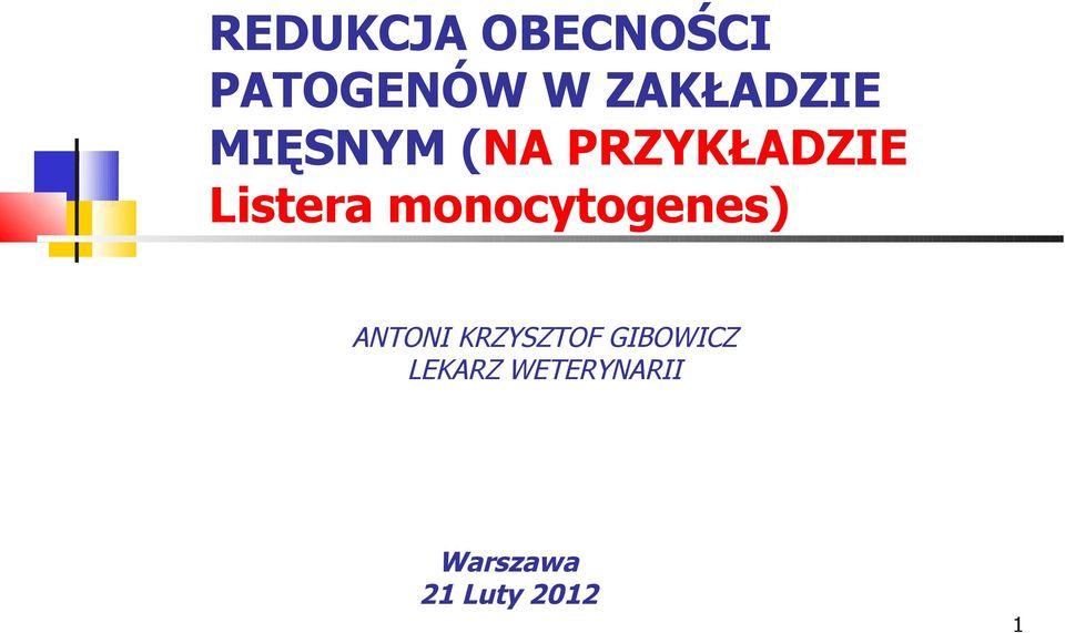 Listera monocytogenes) ANTONI