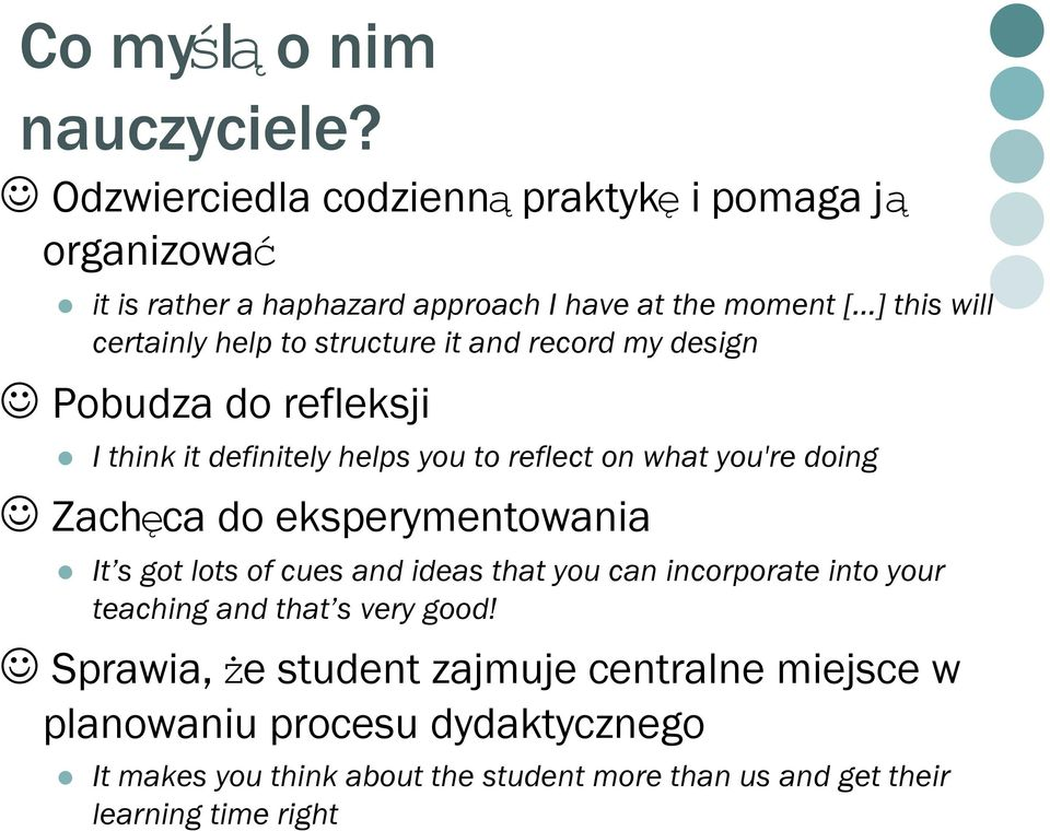 doing Zachęca do eksperymentowania It s got lots of cues and ideas that you can incorporate into your teaching and that s very good!