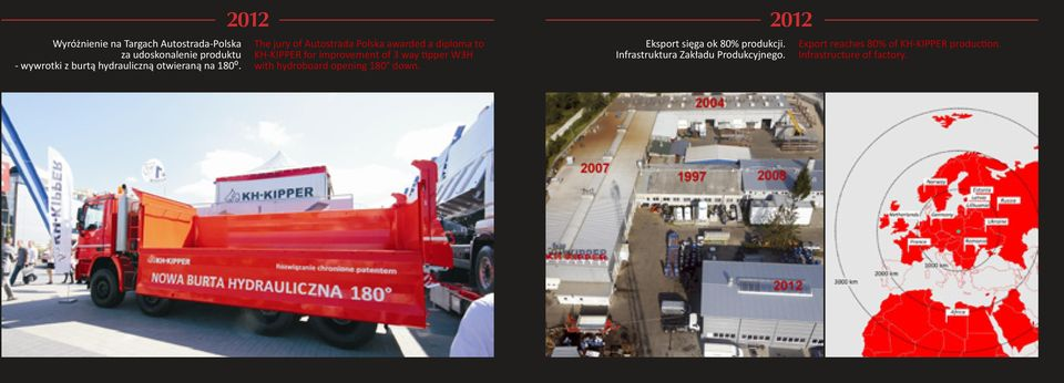 2012 The jury of Autostrada Polska awarded a diploma to KH-KIPPER for improvement of 3 way tipper