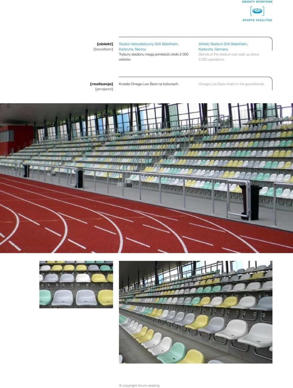 Athletic Stadium SVK Beiertheim, Karlsruhe, Germany Stands of the stadium can