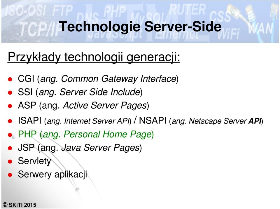 Active Server Pages) ISAPI (ang. Internet Server API) / NSAPI (ang.
