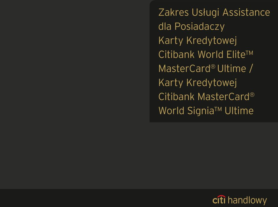 World Elite MasterCard Ultime / Karty