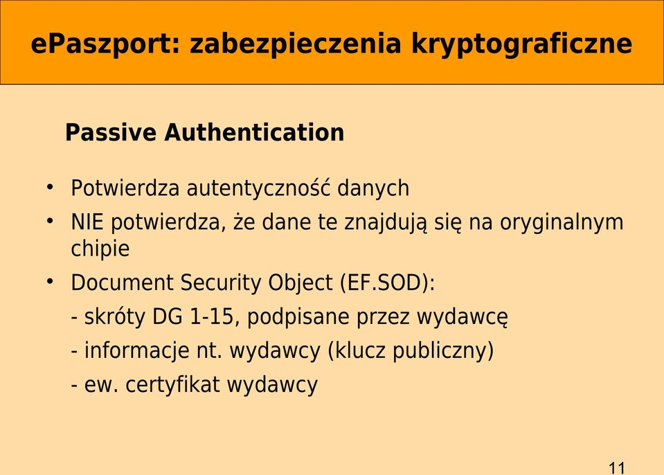 chipie Document Security Object (EF.