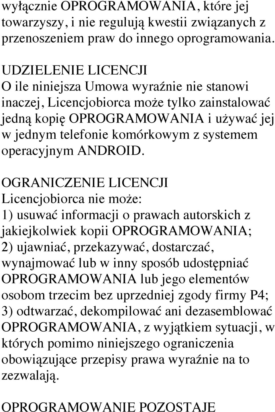 operacyjnym ANDROID.