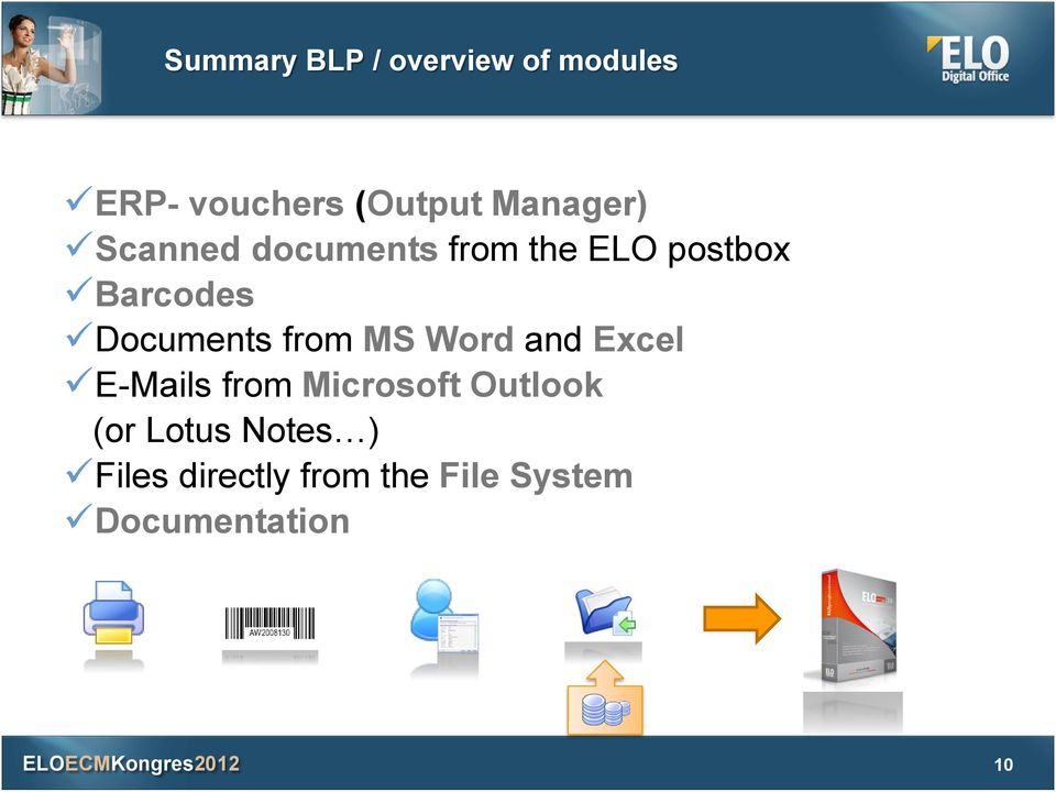 Documents from MS Word and Excel E-Mails from Microsoft