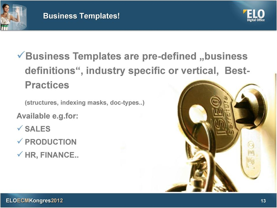 definitions, industry specific or vertical, Best-