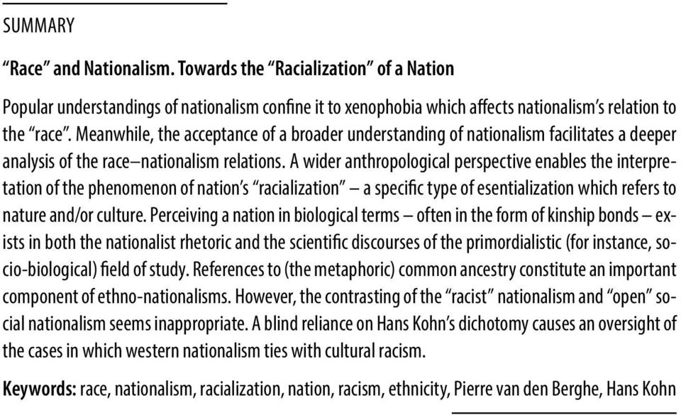 an introduction to the analysis of race by pierre van den berghe Van den berghe pierre l the former we shall then begin with an analysis of marital miscegenation17 table based on the latest available statistics paternalistic to competitive type of race relations cf pierre van den berghe the dynamics of racial prejudice social.