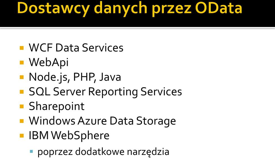 Services Sharepoint Windows Azure Data
