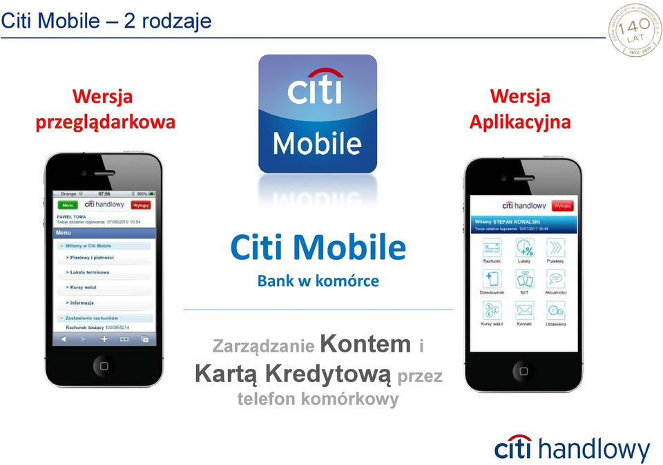 Citi Mobile Bank w komórce