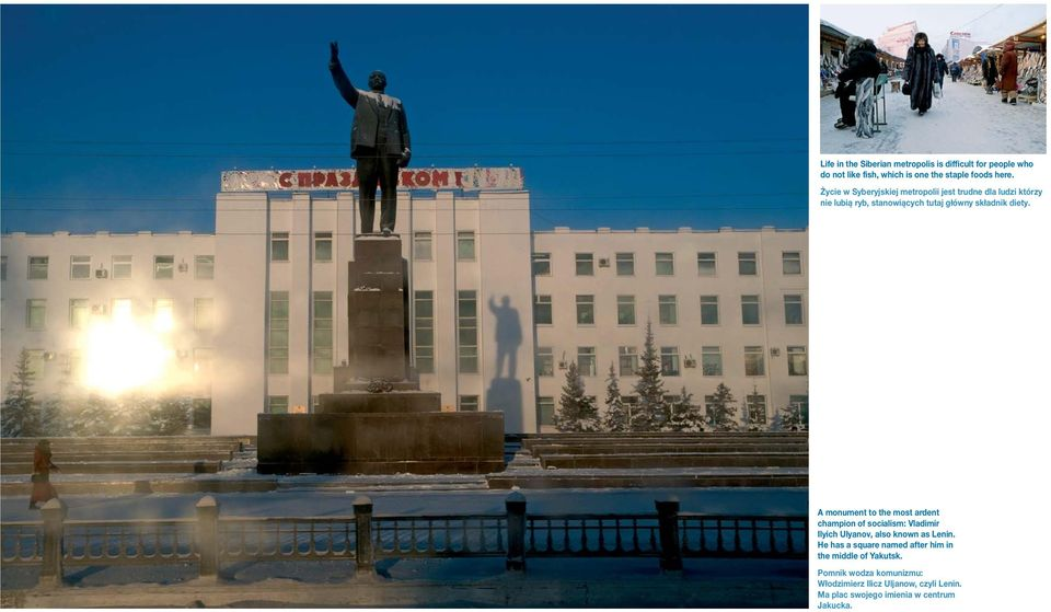 A monument to the most ardent champion of socialism: Vladimir Ilyich Ulyanov, also known as Lenin.