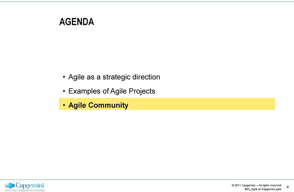 Examples of Agile