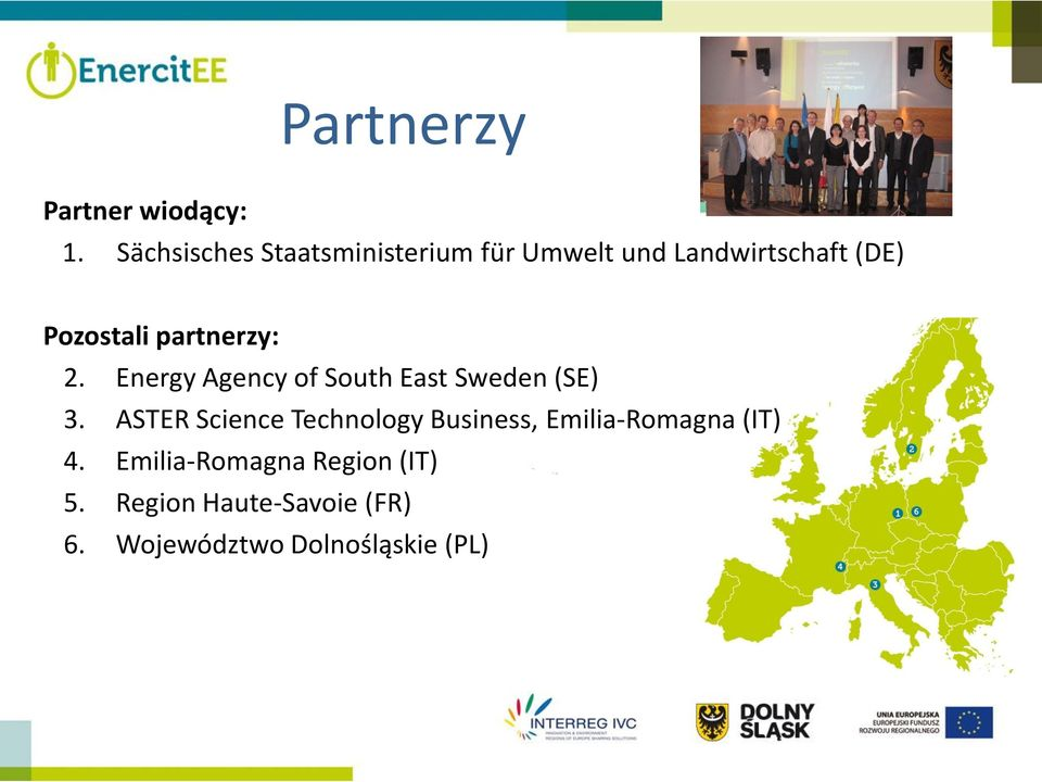 partnerzy: 2. Energy Agency of South East Sweden (SE) 3.