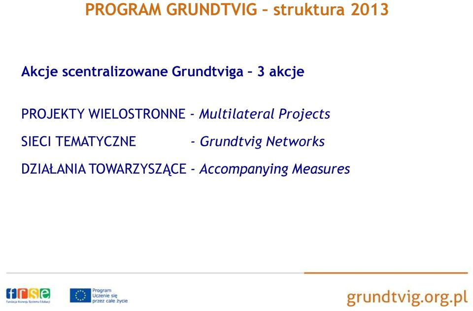 WIELOSTRONNE - Multilateral Projects SIECI