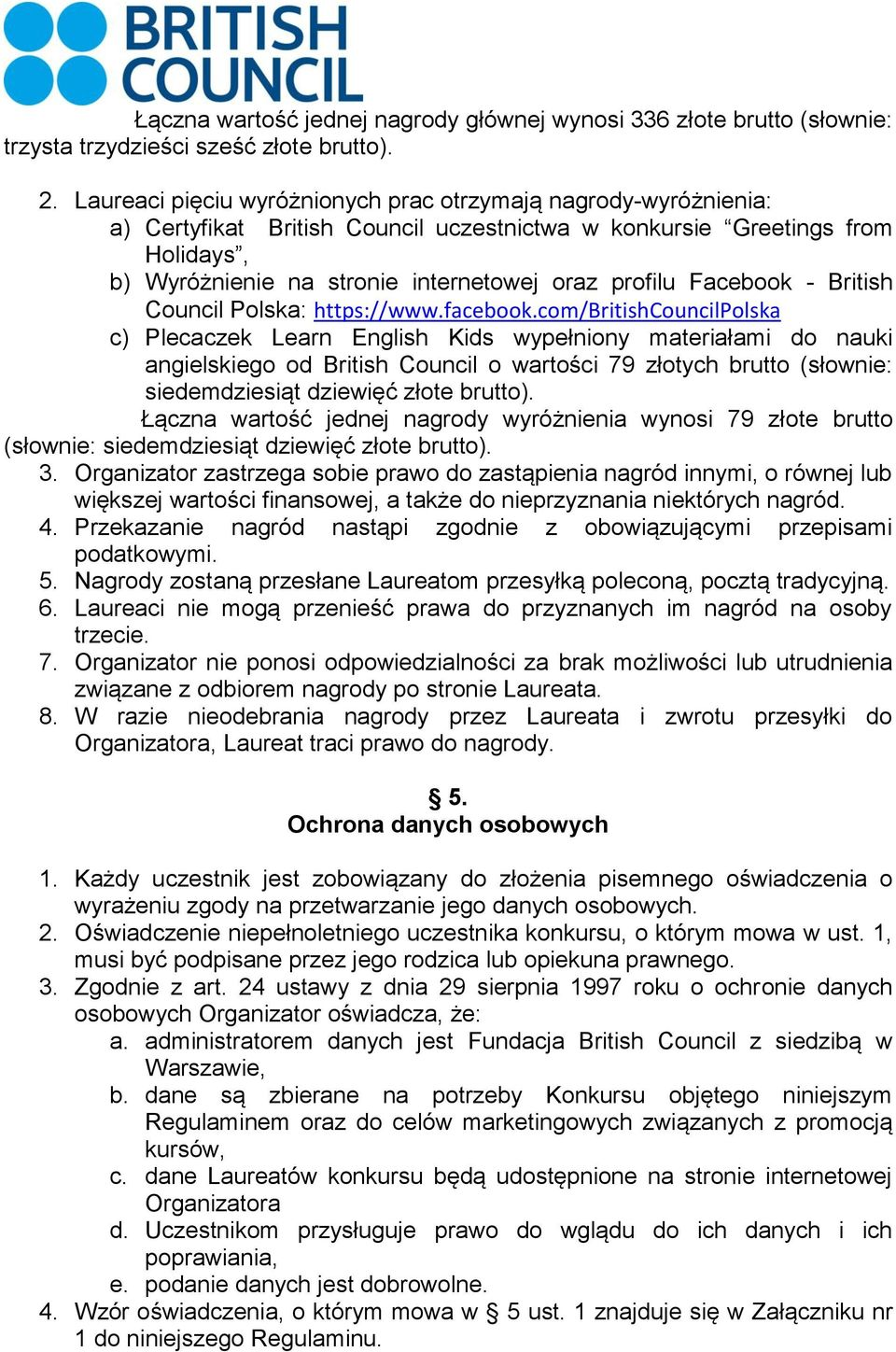 Facebook - British Council Polska: https://www.facebook.