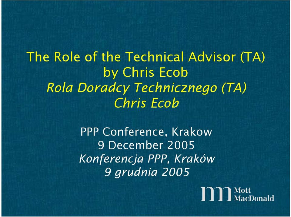 Chris Ecob PPP Conference, Krakow 9