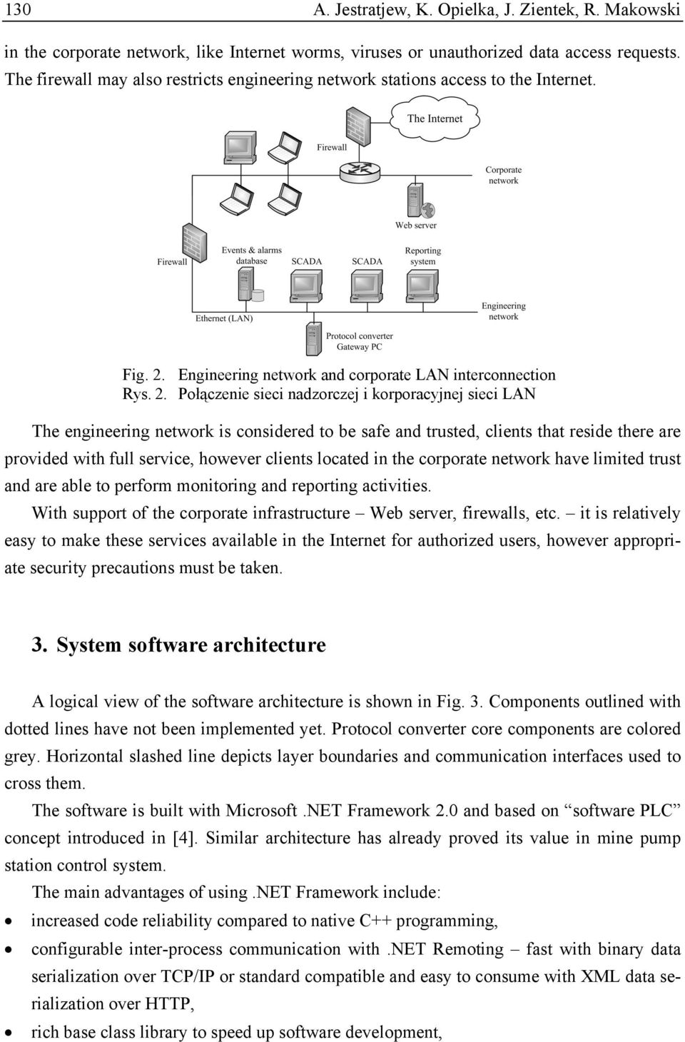Engineering network and corporate LAN interconnection Rys. 2.