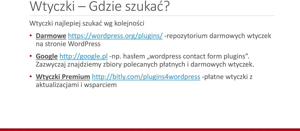 hasłem wordpress contact form plugins.
