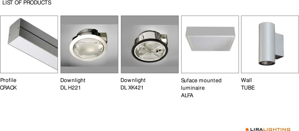 Downlight DL XK421 Suface