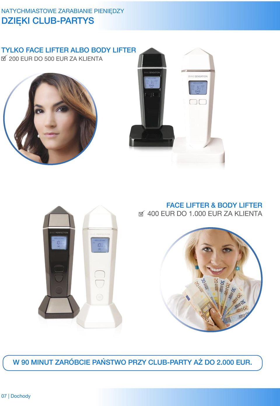 Face Lifter & Body Lifter 400 EUR do 1.
