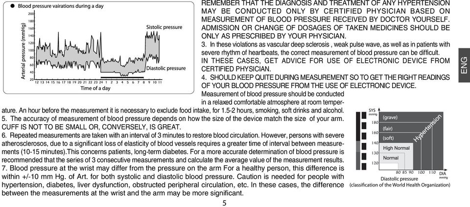 In these violations as vascular deep sclerosis, weak pulse wave, as well as in patients with severe rhythm of heartbeats, the correct measurement of blood pressure can be difficult.