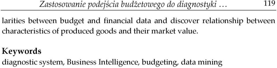 between characteristics of produced goods and their market value.
