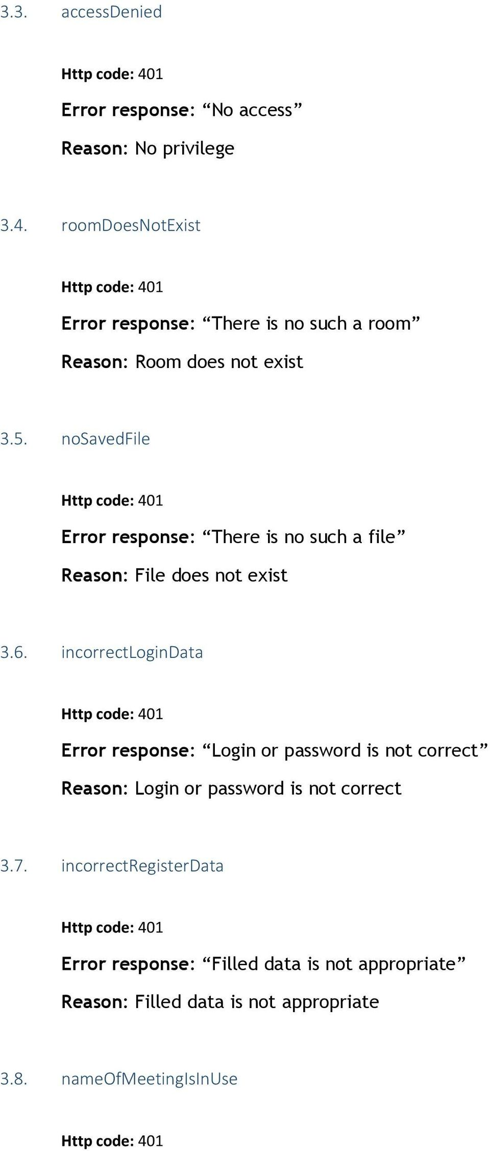 nosavedfile Error response: There is no such a file Reason: File does not exist 3.6.