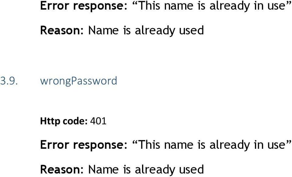 wrongpassword  use Reason: Name is