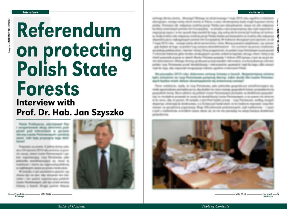 protecting Polish State Forests Interview