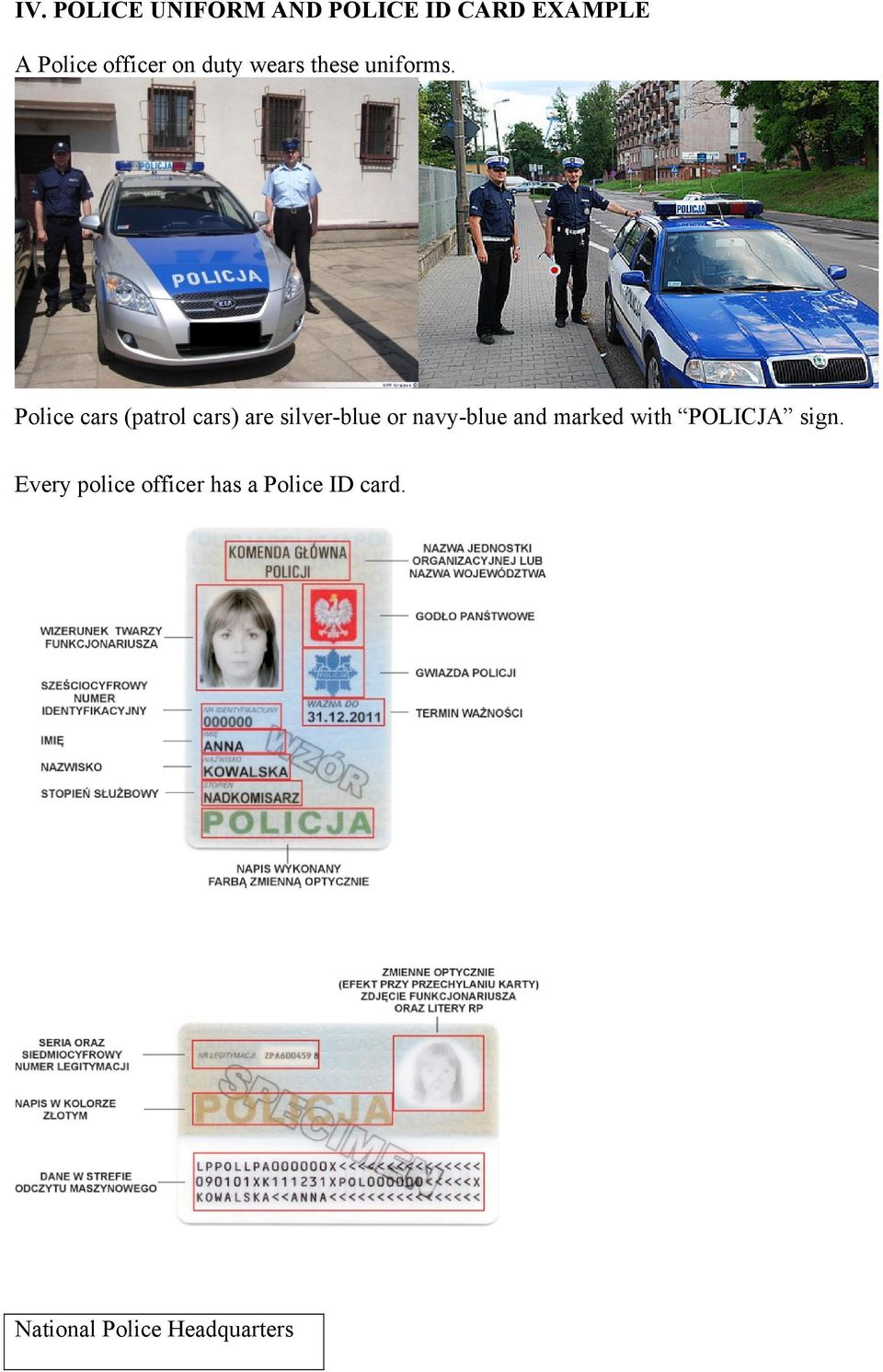 Police cars (patrol cars) are silver-blue or navy-blue and