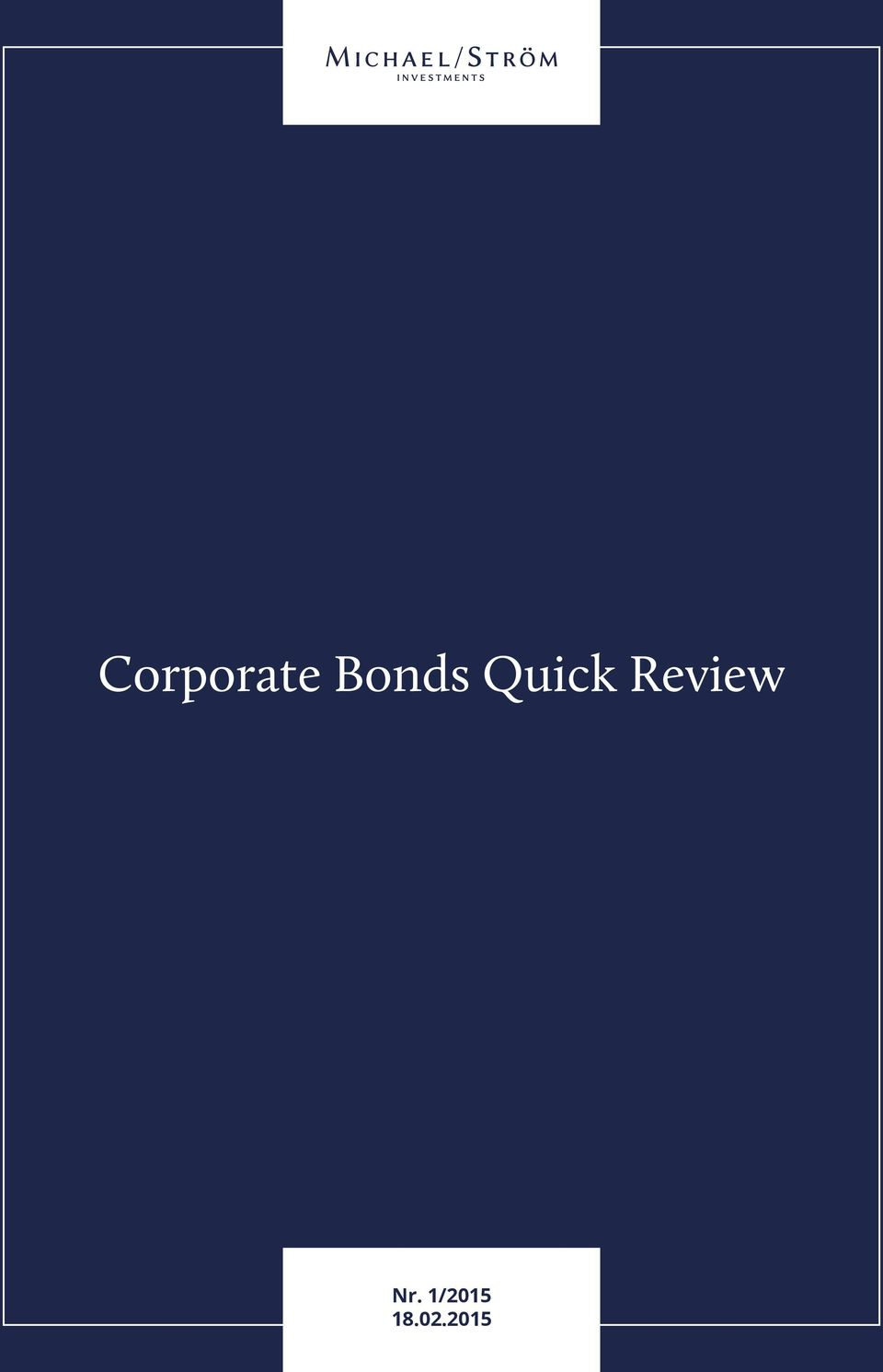 2015 Corporate Bonds