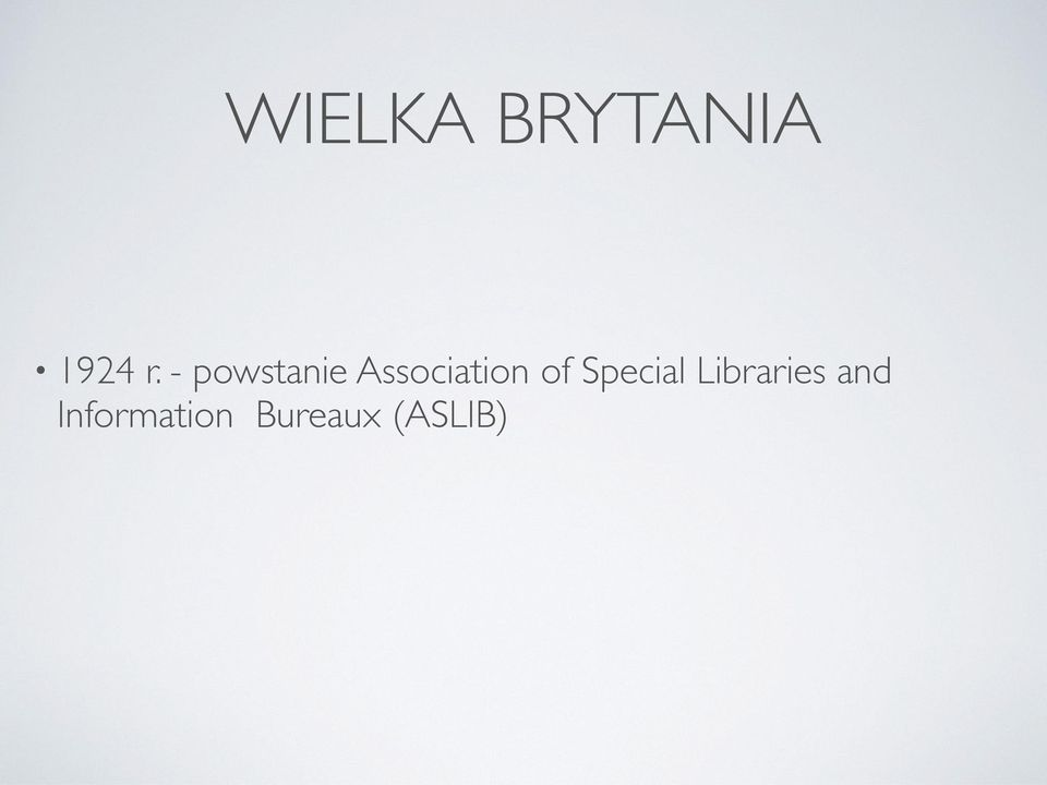 of Special Libraries and