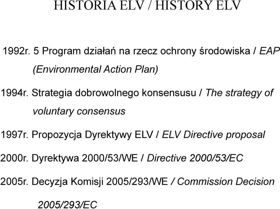 Strategia dobrowolnego konsensusu / The strategy of voluntary consensus 1997r.