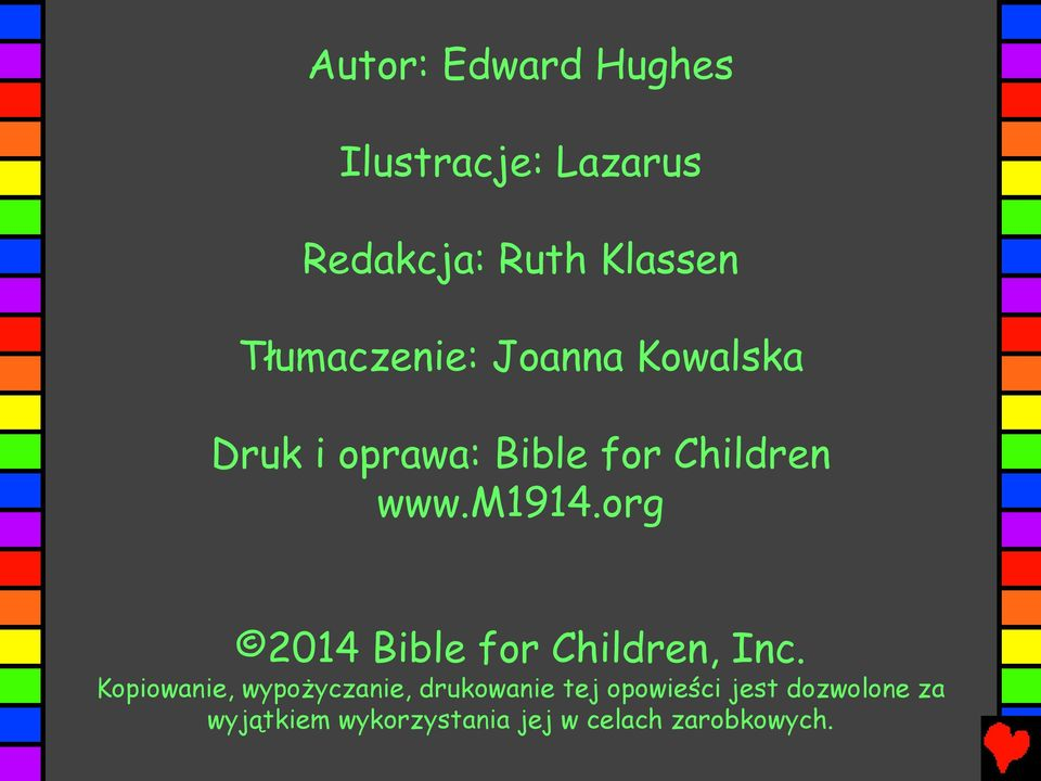 org 2014 Bible for Children, Inc.