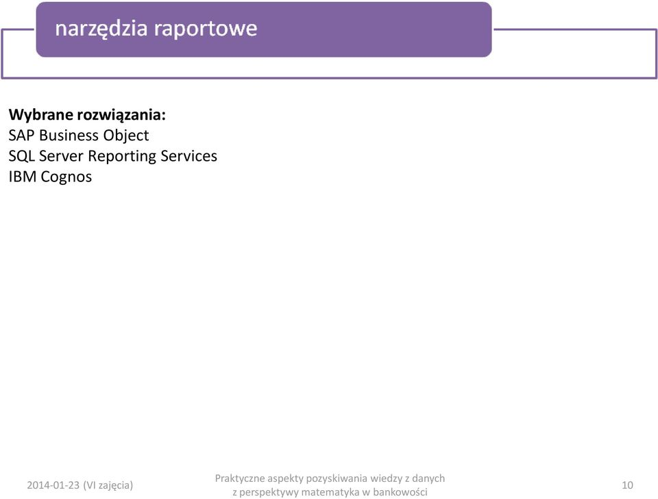 Reporting Services IBM