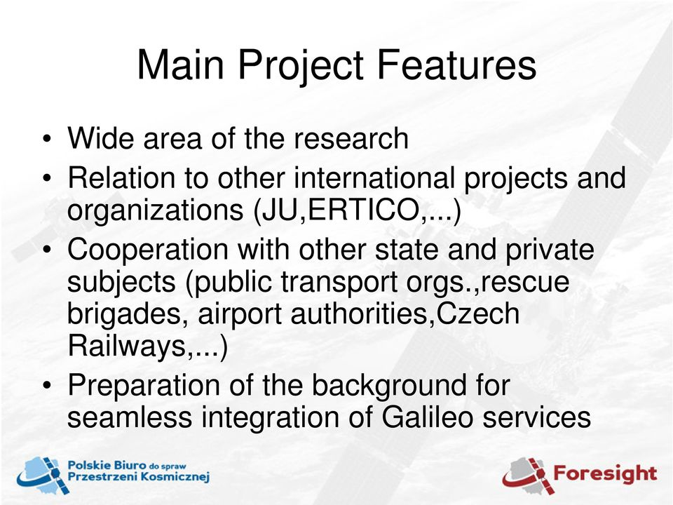 ..) Cooperation with other state and private subjects (public transport orgs.