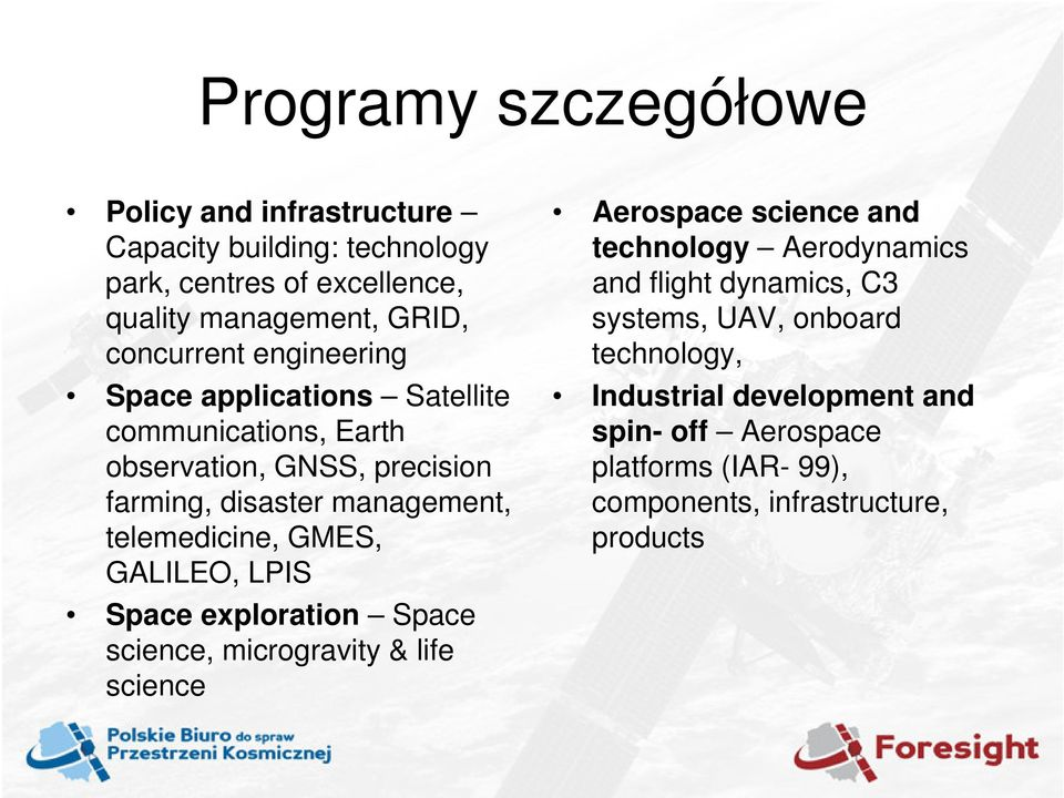 telemedicine, GMES, GALILEO, LPIS Space exploration Space science, microgravity & life science Aerospace science and technology Aerodynamics