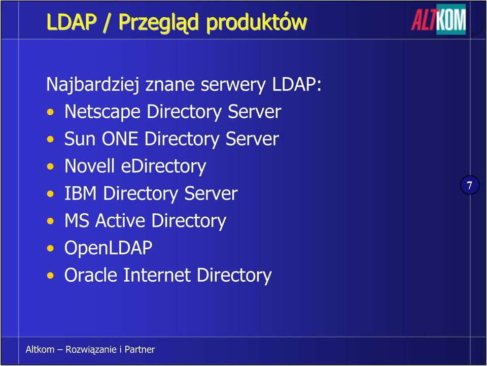 Directory Server Novell edirectory IBM Directory