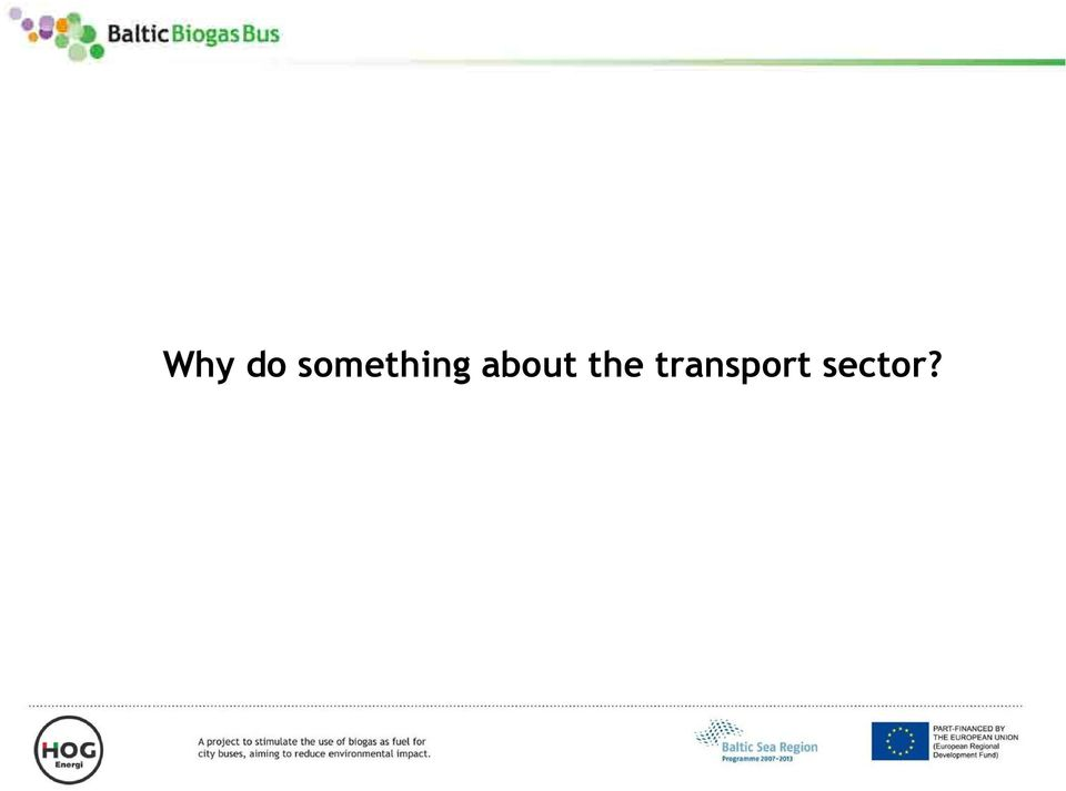 transport sector?