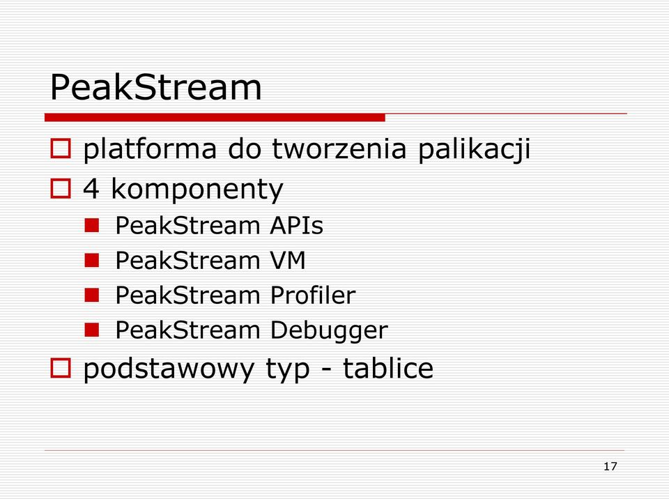 PeakStream VM PeakStream Profiler