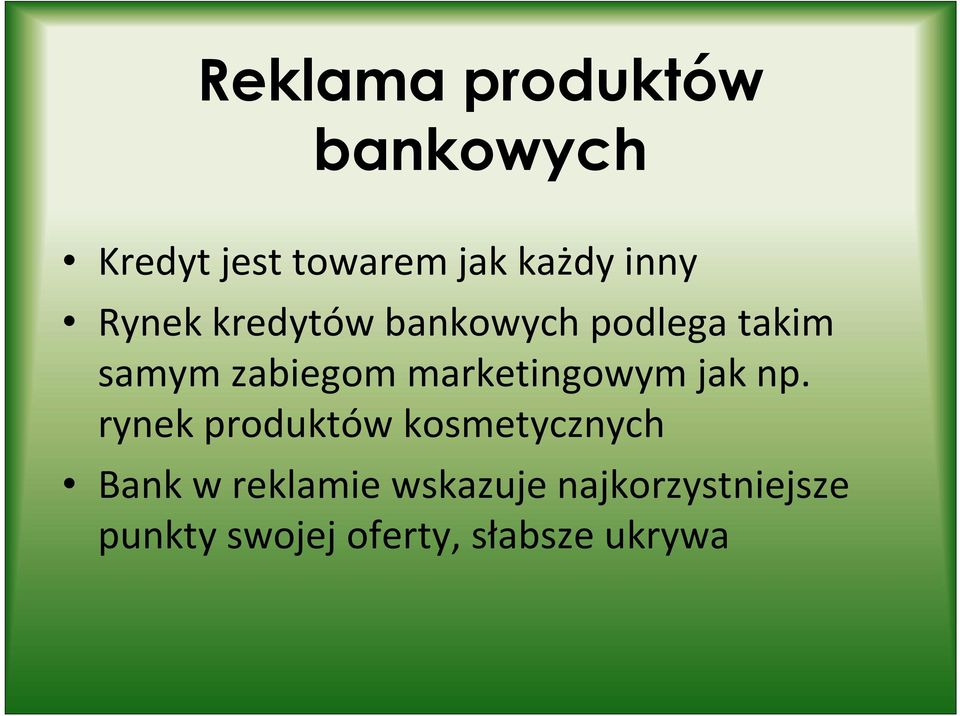 marketingowym jak np.
