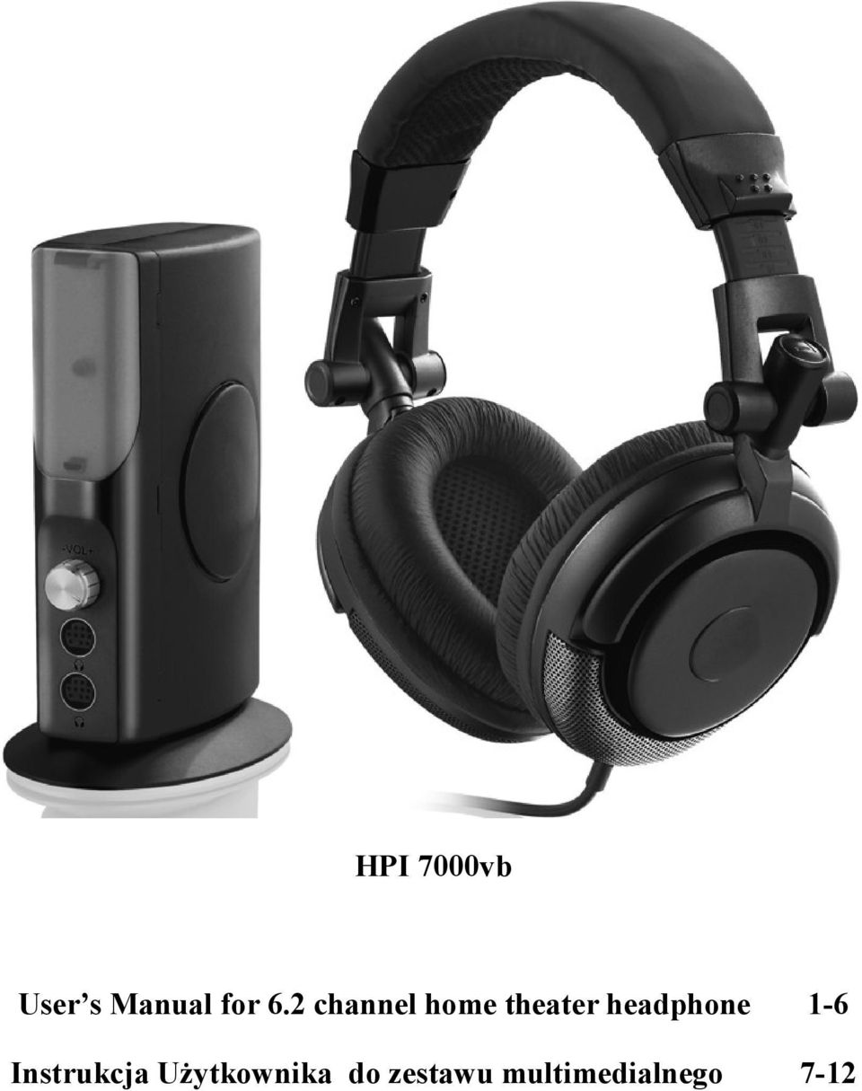 headphone 1-6 Instrukcja