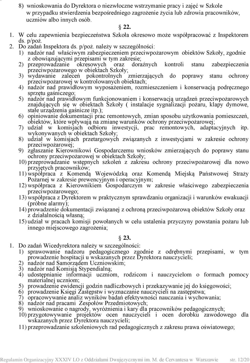 2. Do zadań Inspektora ds. p/poż.