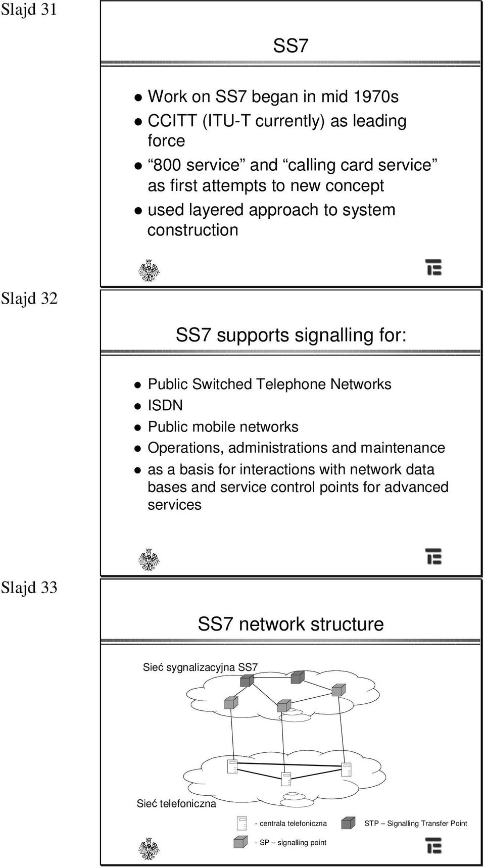networks Operations, administrations and maintenance as a basis for interactions with network data bases and service control points for advanced