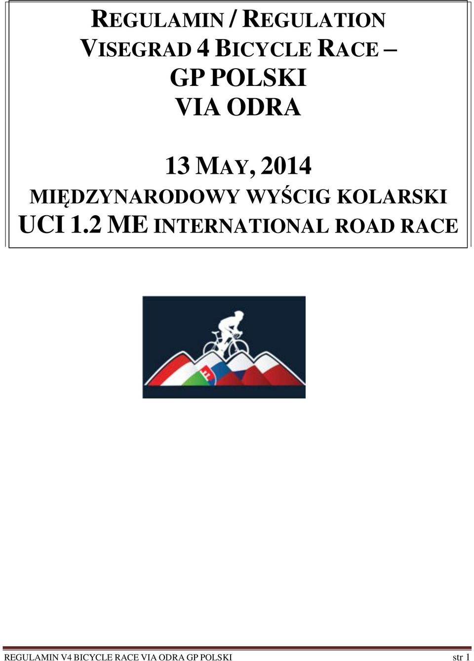 KOLARSKI UCI 1.2 ME INTERNATIONAL ROAD RACE CI 1.