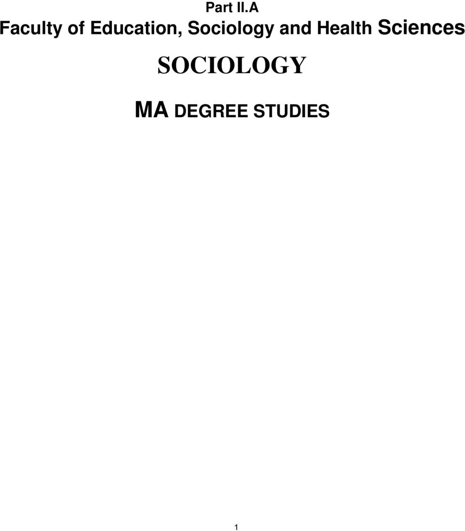 Education, Sociology