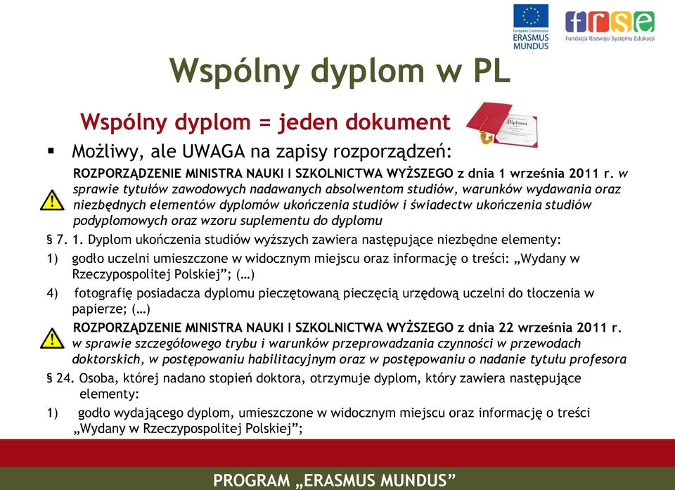 suplementu do dyplomu 7. 1.