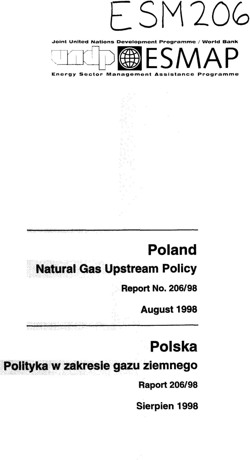 Natural Gas Upstream Policy Report No.