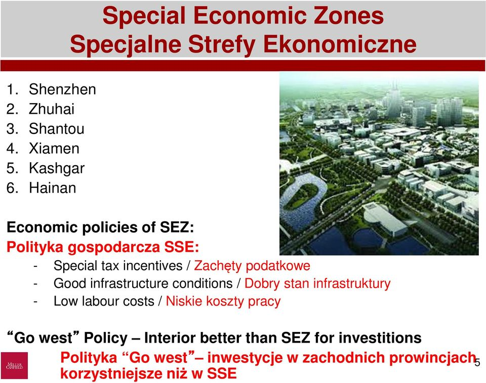 Special tax incentives / Zachęty podatkowe - Good infrastructure conditions / Dobry stan infrastruktury - Low
